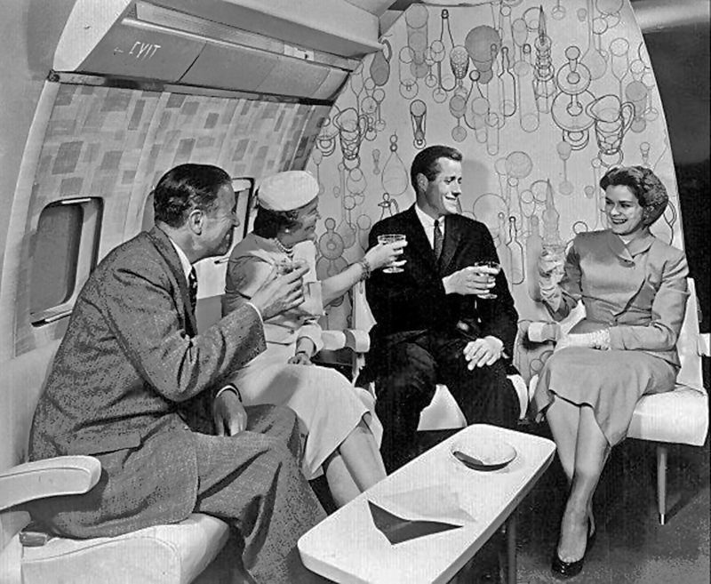 cabin of Boing 707