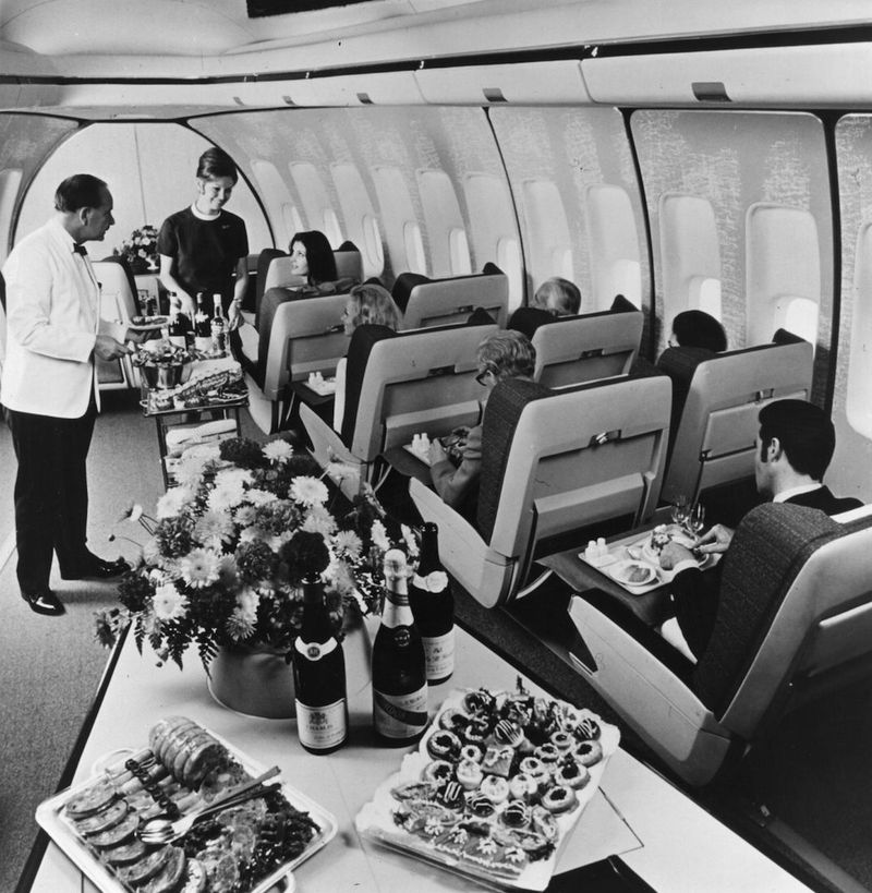 An onboard dinner time