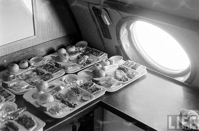 Tu-104's onboard kitchen