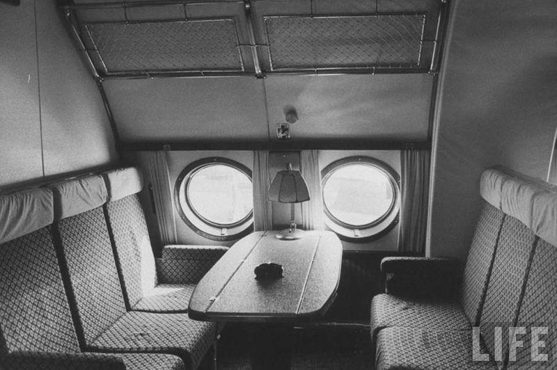 sitting first class cabin