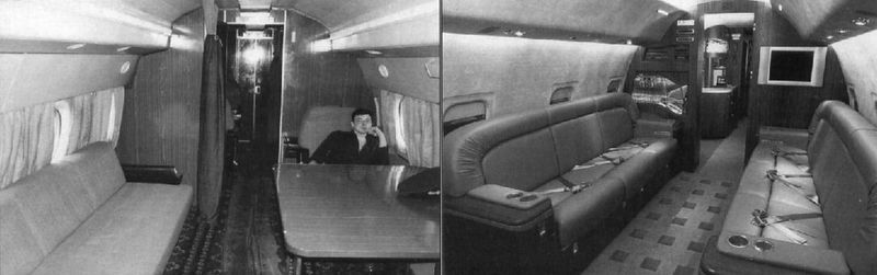 A cabin for a head of state in different modifications of Tu-134 planes.