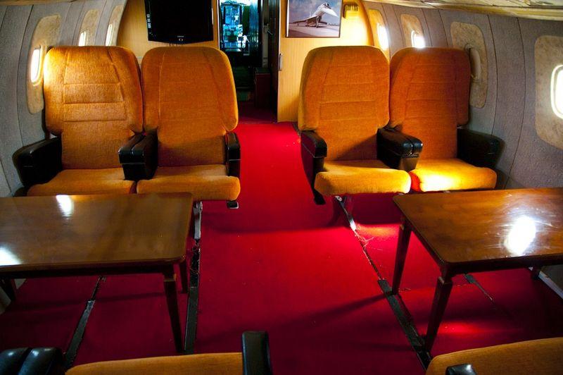 A Tu-144's first class cabin.