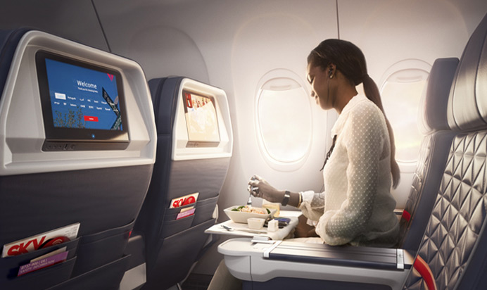 delta business class seat