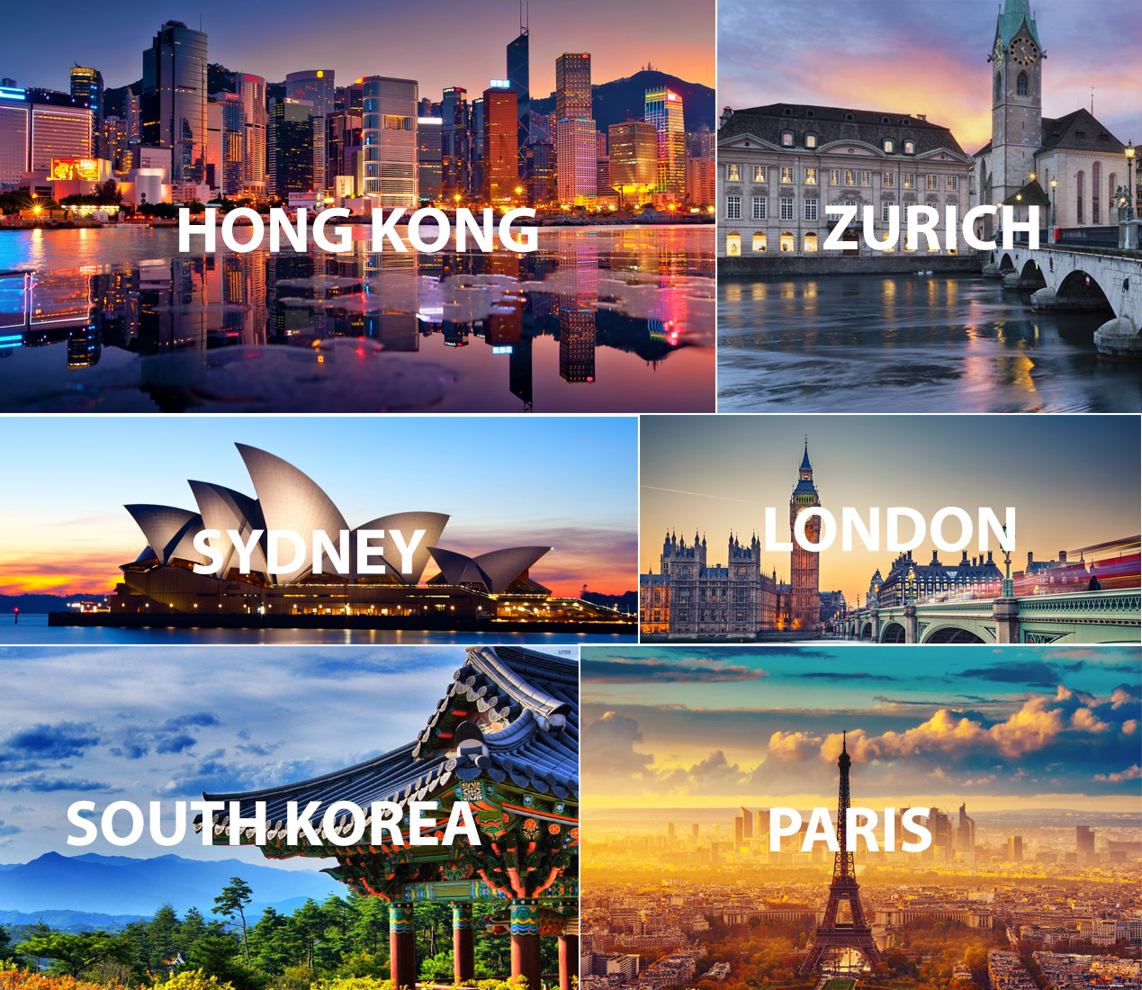 top destinations for business class flights