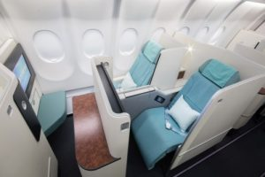 korean air business class seats