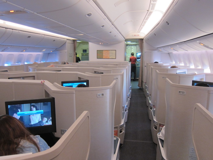 Cathay Pacific Business Class 777 cabin