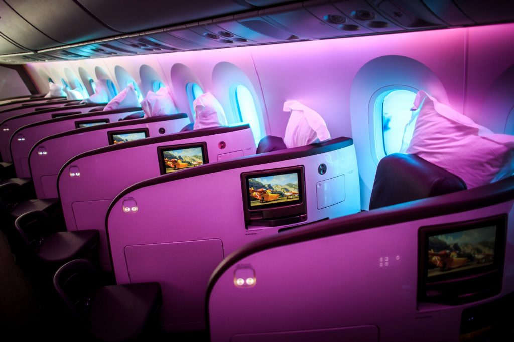 Difference between First and Business Classes: Virgin Atlantic