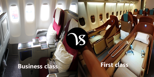 Difference between business class and first class