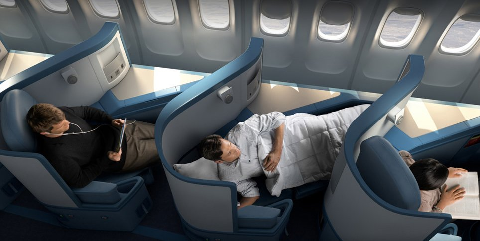 Delta Airlines business class comparison