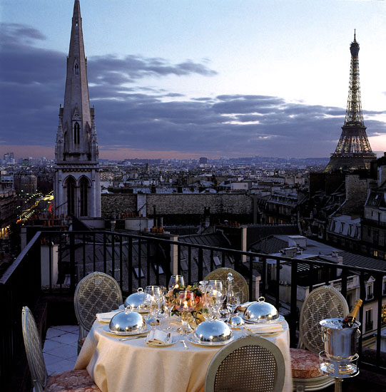 Georges - restaurant with the best view in paris