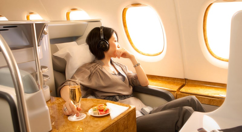 Emirates airlines business class to Singapore