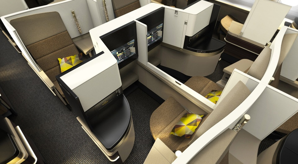 Etihad Business Class A380 seats review