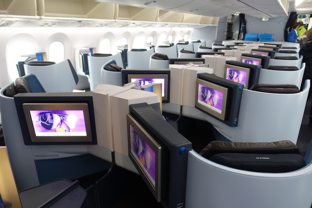 KLM Business Class to amsterdam
